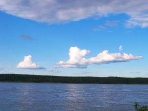 summer sky mackenzie river
